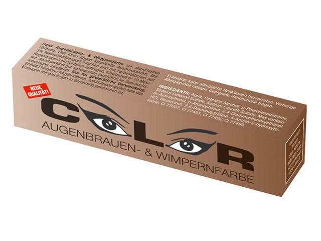 Color Wimpernfarbe - Augenbrauenfarbe - Naturbraun (15 ml) - Wimpernverlängerung