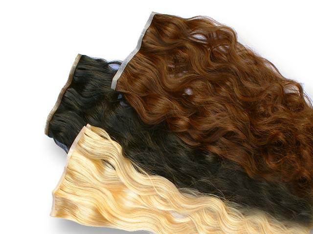 Indische Skin Weft, gewellt, 55 g, 60 cm - Haarverlängerung