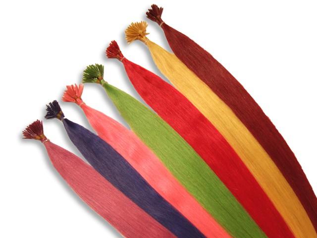 20 indische Fantasy Echthaarsträhnen, I-Tip, glatt, 60 cm - Haarverlängerung