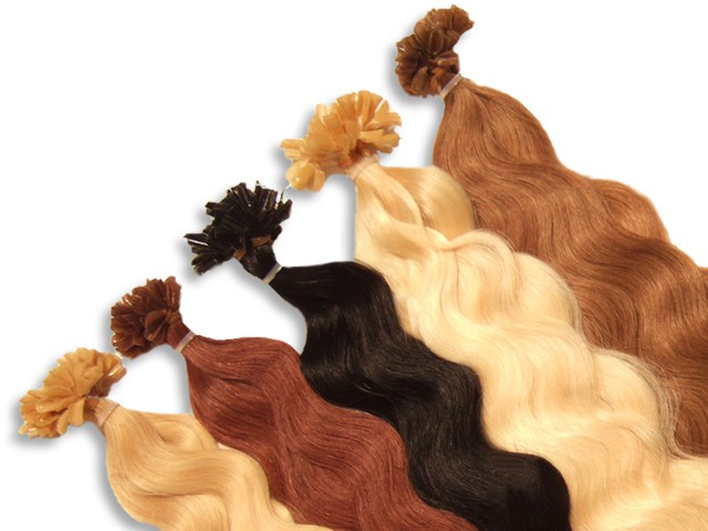 20 indische Echthaarsträhnen, U-Tip, gewellt, 60 cm - Haarverlängerung