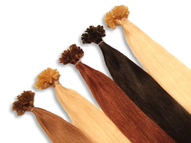 20 indische Echthaarsträhnen, U-Tip, glatt, 40 cm - Haarverlängerung