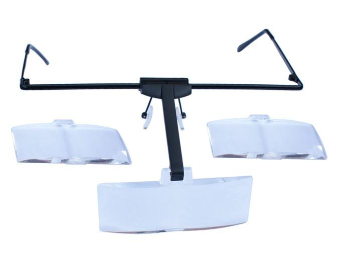 MilleniumHair Lupenbrille mit 3 Aufsätzen - Wimpernverlängerung