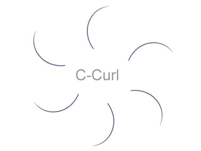MilleniumHair C-Curl Lashes - C-Curl Wimpern - 0,15 mm Stärke - Länge wählbar