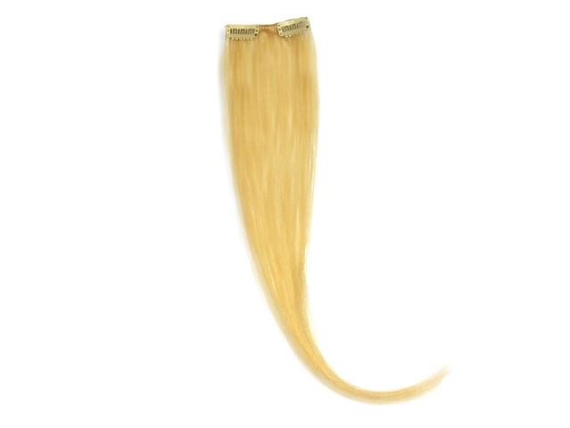 Indisches Clip in Extensions Stück, mit 2 Clips, glatt, 5 g, 60 cm - Haarverlängerung