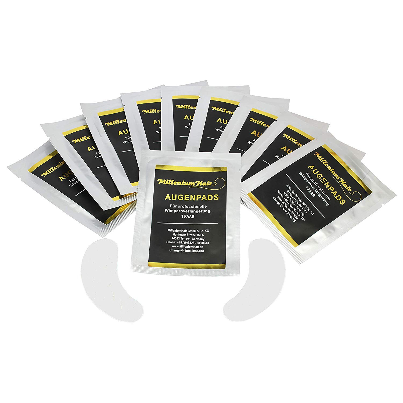 MilleniumHair Augenpads - Eye Pads - 10 x 2 Stück - fusselfrei - Wimpernverlängerung