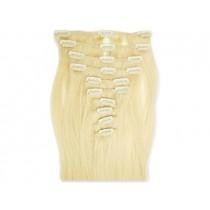 8-teiliges indisches Clip in Extensions Set, glatt, 110 g, 60 cm - Haarverlängerung