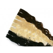 10 indische Tape Extensions á 4 cm, gewellt, 25 g, 60 cm - Haarverlängerung