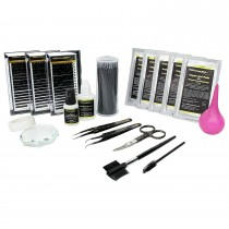 Profi-Set - Silk Lashes - Seidenwimpern - Volumentechnik - C-Curl - 0,07 mm Stärke