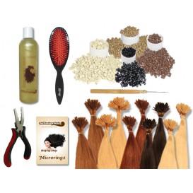 Komplett-Set - 160 Strähnen - Microrings - glatt - 60 cm - Haarverlängerung