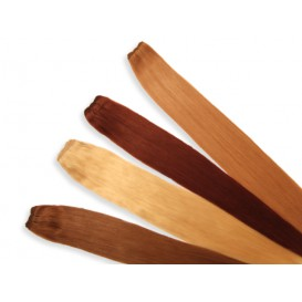 Indische Echthaartresse, glatt, 100 g, 60 cm - Haarverlängerung