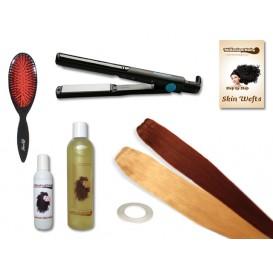 Komplett-Set - 2 Skin Wefts - glatt - 60 cm - Haarverlängerung