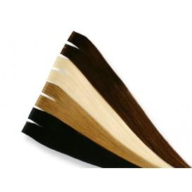 10 indische Tape Extensions á 4 cm, glatt, 25 g, 60 cm - Haarverlängerung