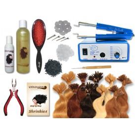 Komplett-Set - 160 Strähnen - Shrinkies - gewellt - 40 cm - Haarverlängerung