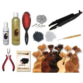 Starter-Set - 120 Strähnen - Shrinkies - gewellt - 40 cm - Haarverlängerung