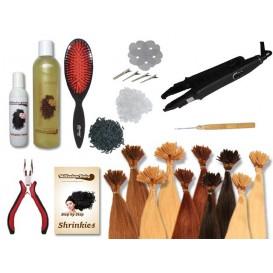 Starter-Set - 120 Strähnen - Shrinkies - glatt - 40 cm - Haarverlängerung