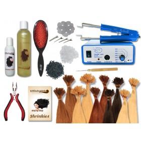 Komplett-Set - 160 Strähnen - Shrinkies - glatt - 60 cm - Haarverlängerung
