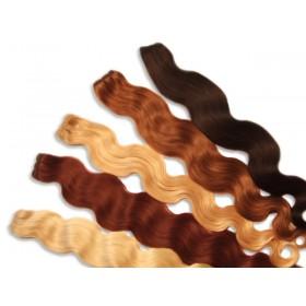 Indische Echthaartresse, gewellt, 100 g, 60 cm - Haarverlängerung