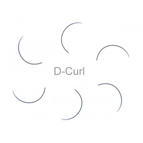 MilleniumHair D-Curl Lashes - D-Curl Wimpern - 0,15 mm Stärke - Länge wählbar